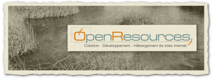 Open Resources, creation, developpement, hebergement de sites internet
